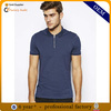 zipper collar polo shirt