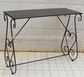 Scrittoio, metallo tavolo da pranzo lungo, consolle in ferro battuto