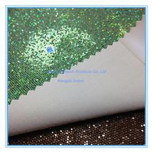 Glitter leather pu coat fabric leather for box handbags