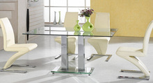 Modern appearance stainless steel metal dining table