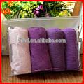 A5 Transparent clear pvc towel pouch, clear zipper cloth towel pvc pouch