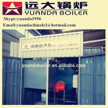 Low pressure oil fired transportable boiler room