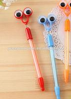 Big eyes design hot sale plastic ball pen for promotion