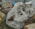 Hight qualidade interior e exterior granito lions estátua