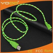 FREE SAMPLE 3m microusb cable nylon,3m nylon braided micro usb cable,3M nylon micro usb to 3.5mm audio cable