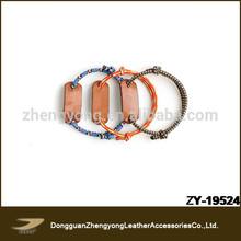 Unisex elastic design 2014 hand bands leather bracelet