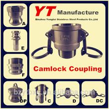 """cam lock couplers, 1/2""""-6"""", A/B/C/D/E/F/DC/DP, OEM Manufacture"""