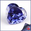 33# en forma de corazón de zafiro sintético para hombres anillo de zafiro