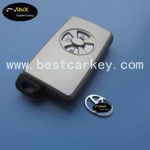 Topbest Smart car key shell for Toyota key blank Toyota 4 button shell with emergency key