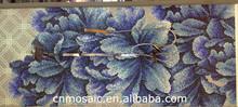 purple glass mosaic art for decoration