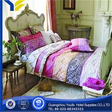 purple hot sale 100% cotton pure cotton embroidered patch little hippo print bedding set children