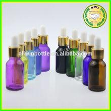 various colored airtight empty mini perfume glass dropper bottle 15ml