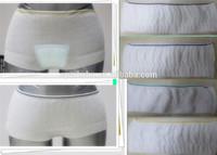 2014 plus size unisex disposable mesh panties/adult diaper incontinence underwear