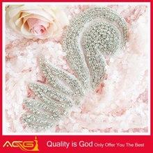 BEST SELLER rhinestone applique/beaded applique wedding belt fancy colorful leather patch travel bag