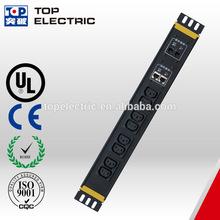 19 inch horizontal rack 8 way IEC C13 10 A ,1 pair RJ45 & RJ11 jacks surge IEC C13 rack mount 220V PDU