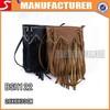 2014 Promotional brown tassel leather shoulder bags, one shoulder messenger bags Manufacture