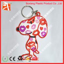 customised shape and colour elastic key ring wholesale