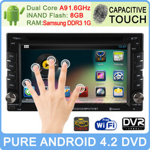 touch screen Android 4.2 car dvd gps navigation system for kia sportage ford f150 with global gps for universal cars BMW e39