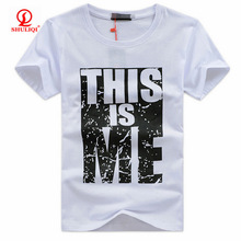 Custom rayon polyester cotton t shirt mens t shirt help you add logo and brand nam