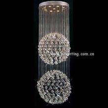 Fancy long hanging stairs kristal lampe