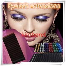 Various sizes individual false eyelash application