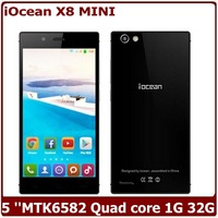 Iocean X8 Mini 5 Inch MTK6582 Quad Core Android 4.4 IPS 1280X720 1GB 32GB 8MP Dual Sim 3G GPS WIFI Mobile Phone