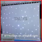 HOT WLK-2W White fireproof Velvet cloth White leds backdrop star led stage decorations curtain