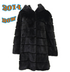 YZY14102 wholesale women lasted real fur coat
