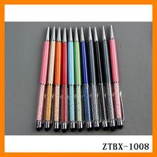 2014 New Fashion Cheap Feature Metal Pearl Promotional Touch Ballpoint Pen Wholesale ZTBX-1008