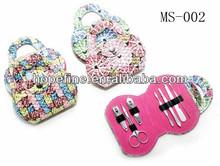 Colorful designed professional cosmetique set manicure