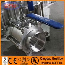 First Class 3-piece Ball Valve made in China