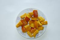 frozen pumpkin cubes