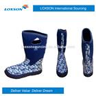 Neoprene rain boots for women garden