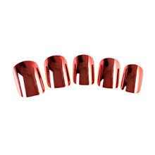 plastic fingernails metallic artificial nails