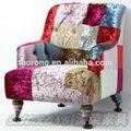 Mordern Patchwork único sofá / colorful hotel romm um seater sofá