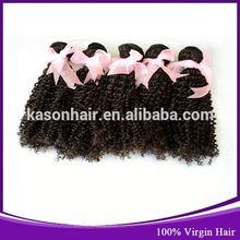 Qingdao Kason Hair Products Ding Unprocessed Curly Intact Virgin Peruvian Hair