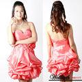 Wb1177-k51 tamanho grande mulheres vestido de noite curto penas vestido de festa