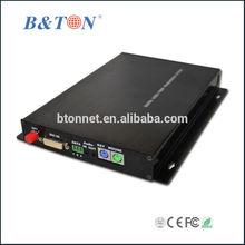 DVI Fiber converter 1-ch DVI video, 1-ch stereo audio and 1-ch data RS232, PS2, single fiber,FC fiber connector, 20KM,