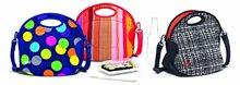 Neoprene fitness thermal cooler lunch bag with shoulder strap