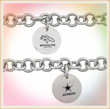 Alibaba China fashion jewelry wholesale stainless steel football team bracelet