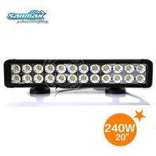 High intensity 16000 lumen double row waterproof 10w cree led light bar off road