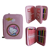 OEM fancy pencil case with stationery collection (DX-P271)