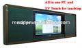 <XZY>55'' smart tv con pizarras de la escuela para el aula multimedia de la enseñanza sobre el sida