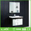 Nice-looking super quality white bathroom wall cabinet towel bar