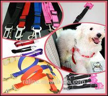 2014 Wholesale Top Quality Nylon Fabric Belt Pet Cat Dog Safe Belt & Buckle Car Seat Belt Extender