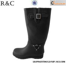 Wholesales wellington ladies black rubber rain boots
