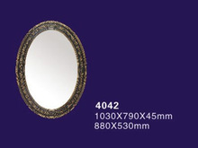 Light PU Ornate mirror frame Designer mirror frame