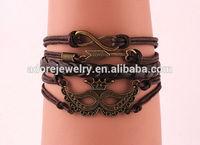 Metal Leather Rope Mask Bracelets
