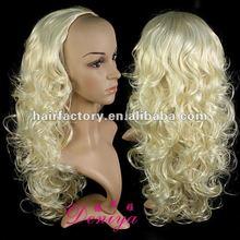 japanese kanekalon fiber half hair wig