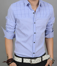 Latest style Man shirts with long sleeve